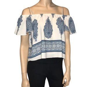 Streetwear Society Medium Cold Shoulder Blouse